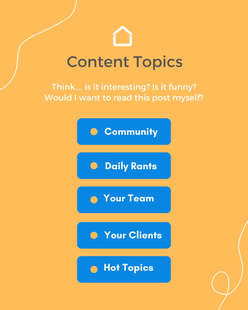 Content Topics