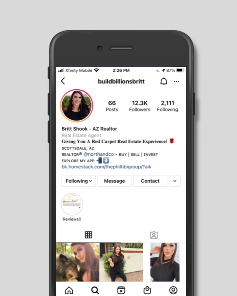 Create a Clear Bio: Add a profile picture and a bio (which should include a link to your App).